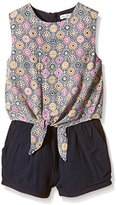 French Connection Girl's Tie Front Playsuit Floral Clothing Set