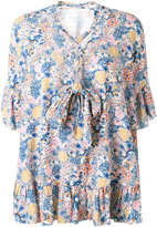 See by Chloe printed blouse - women - Cotton/Linen/Flax - 36