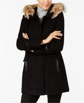 Trina Turk Coyote-Fur-Trim Coat