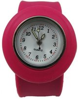 Acczilla Slap Watch - Silicone Slap On Watch - Rose Pink - Childrens Size