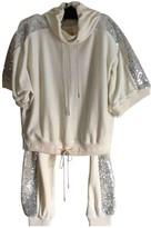 Sonia Rykiel White Velvet Jumpsuits