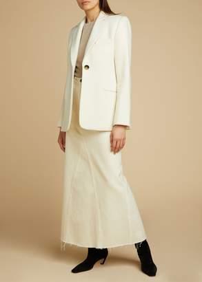 KHAITE The Magdalena Skirt in Ivory