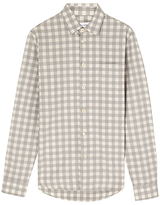Jigsaw Mouline Check Slim Shirt, Grey
