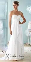 Mon Cheri Enchanting Sweetheart Ruffle Applique Wedding Dress