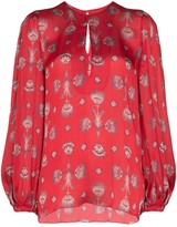 Johanna Ortiz living coral shell print blouse