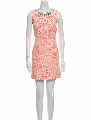 Matthew Williamson Printed Mini Dress Orange