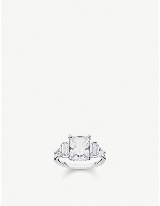 Thomas Sabo Zirconia and sterling silver cocktail ring