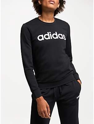 adidas Essentials Linear Crew Neck Sweatshirt