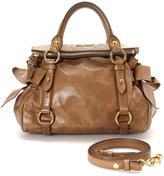Miu Miu Pre-Owned Brown Calf Leather Bow Bag