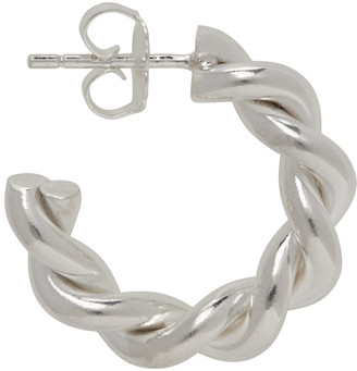WWW.WILLSHOTT Silver Single Wire Twist Earring