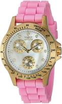 Invicta Women's 'Speedway' Quartz Stainless Steel and Silicone Casual Watch, Color: (Model: 21982)