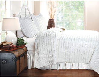 Ruffled Quilt Set, 2-Piece Twin