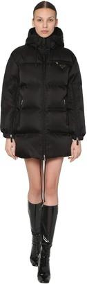 Prada Short Hooded Nylon Gabardine Down Coat