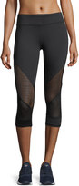 Marc NY Performance Active Cropped Mesh-Inset Leggings