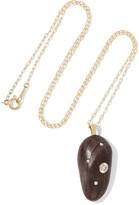 Cvc Stones Europa 18-karat Gold, Stone And Diamond Necklace