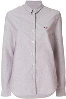 MAISON KITSUNÉ Oxford tricolor fox patch classic shirt