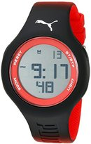 Puma Unisex PU910801037 Loop Digital Display Analog Quartz Red Watch