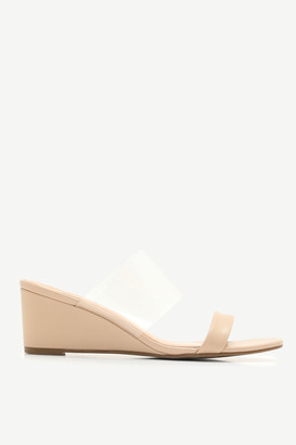 Ardene Wedge Sandals with Clear Strap