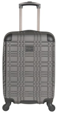 Ben Sherman Luggage Embossed 20-Inch Carry-On Hard Shell Luggage