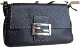 Fendi Brown Leather Handbag Baguette