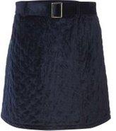 Dorothy Perkins Womens Navy Quilted Belt Mini Skirt- Navy