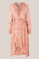 Second Female - Floral Long Sleeve Wrap Dress - Medium