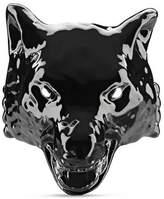 Gucci Anger Forest wolf head ring in enamel