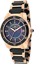 Oceanaut Charm Womens Black Mother-of-Pearl and Black Ceramic Bracelet Watch