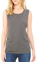 B.ella B8803 BELLA+CANVAS Ladies' Flowy Scoop Muscle Tank-Dark Grey Heather