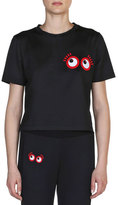 Fendi Googli Eye T-Shirt, Black