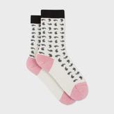 Paul Smith Women's Aran Glittered Paisley Socks