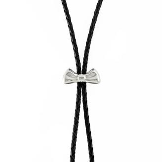 Marie June Jewelry Bow Silver Bolo Tie