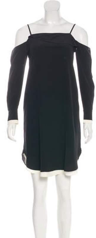 Rag & Bone Off-The-Shoulder Mini Dress Black Off-The-Shoulder Mini Dress