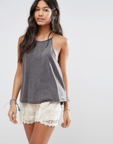 Billabong Essential Cami Beach Top In Washed Black