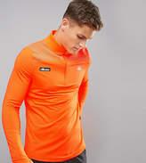 Ellesse Sport 1/4 Zip Long Sleeve T-Shirt In Orange
