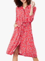 Joules Winslet Floral Button Dress, Red Ditsy