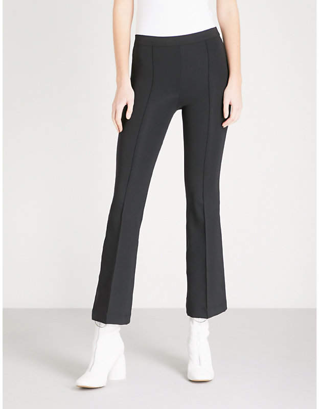 Helmut Lang Flared cropped slim-fit stretch trousers
