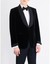 Tom Ford Single-breasted slim-fit velvet cotton jacket