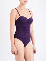 Prism Chateau textured underwired swimsuit