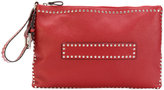 RED Valentino studded zip pouch - women - Leather/metal - One Size