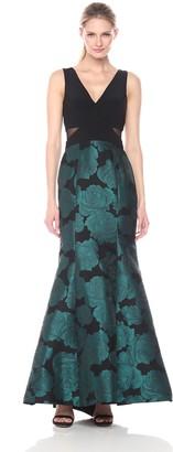 Xscape Evenings Women's Long Mermaid Brocade Skirt with Ity Top