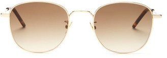 Saint Laurent Square Metal Sunglasses - Gold