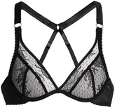 Fleur of England Rebel underwired lace plunge bra