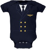 Old Glory Halloween Airline Airplane Pilot Navy Soft Baby One Piece - 3