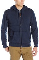 True Grit Men's Slub Terry with Sherpa Zip Hood Jacket