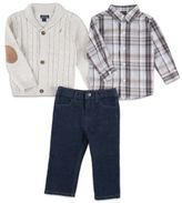 Nautica 3-Piece Shawl Collar Cardigan, Shirt, and Pant Set