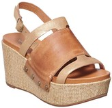 Antelope Women's Sandals Taupe - Taupe Cross-Over Leather Peep-Toe Wedge - Women