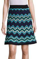 M Missoni Ripple Stripe Knit A-Line Skirt