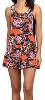 Vans Orange Women's Size Large L Ashley Floral Sheath Dress