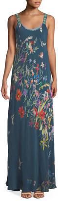 Johnny Was Petite Floral-Print Maxi Tank Dress